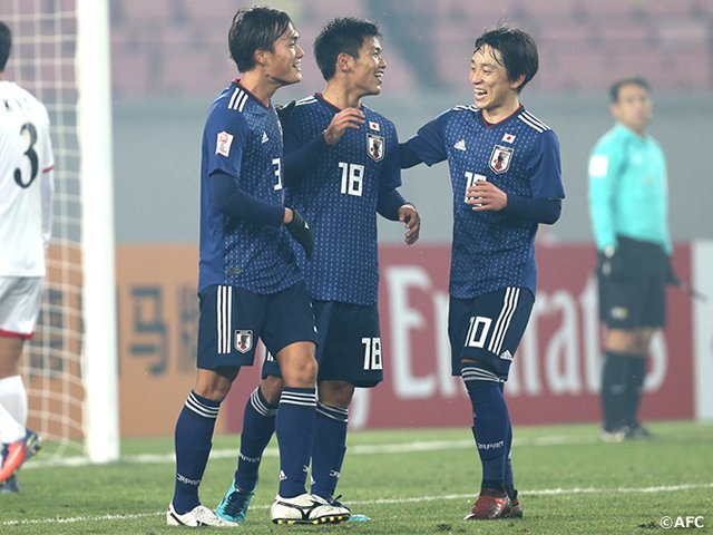 japan wins over north korea in the #AFCU23 Championship 2018