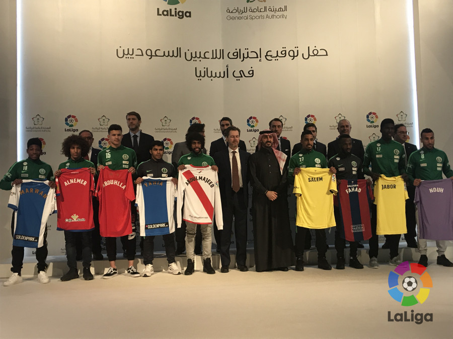 La Liga signs 9 Saudi Arabian players, wholl each go to a Spanish club