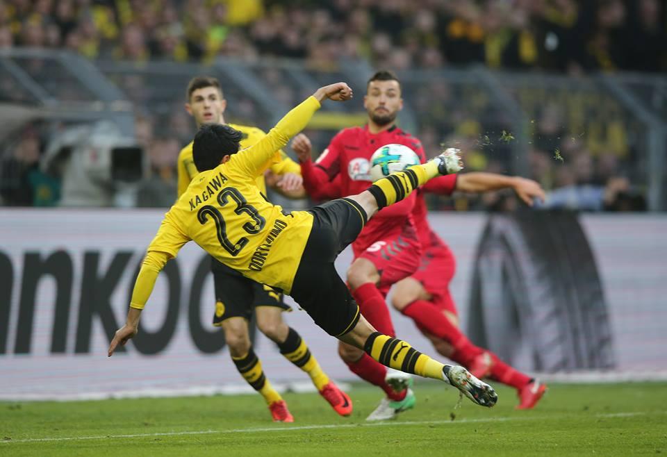 Borussia Dortmund 1-0 Freiburg - Shinji Kagawa Goal