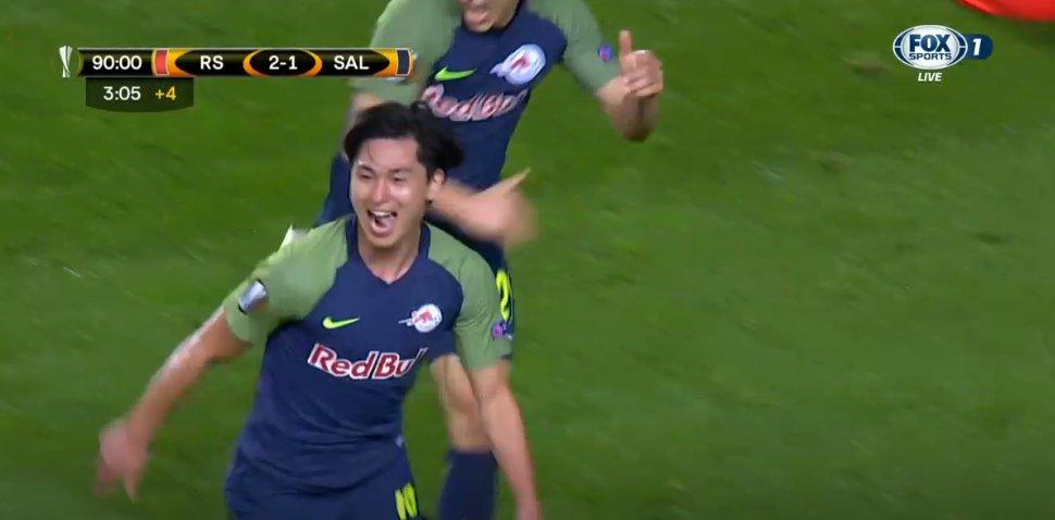 Real Sociedad 2 Salzburg 2 Minamino #UEL