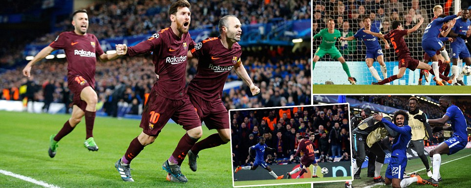 Chelsea so close to beating Barca as Christensen error gifts Messi late equaliser after Willians fine opener in thrilling last-16 first leg
