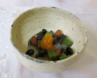 黒豆抹茶みつ豆