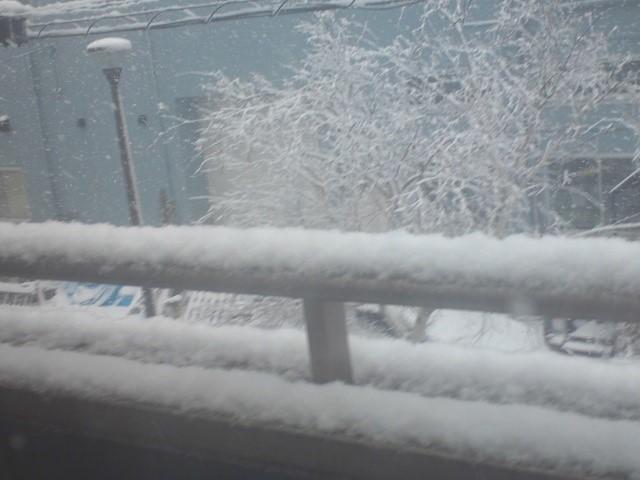 2018年1月22日の雪