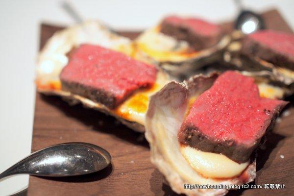 牡蠣のグラタン仕立て ゴルゴンゾーラと肩三角