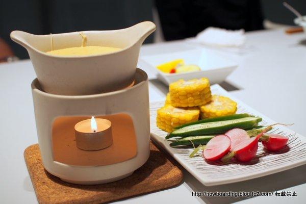 チーズフォンデュ カイノミ、ヒレ、お野菜