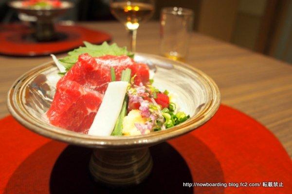 熊本県産馬刺し 奥日田温泉うめひびき 夕食