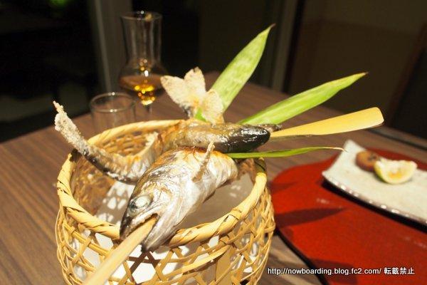 奥日田温泉うめひびき 夕食  地の山女魚の炭火焼き