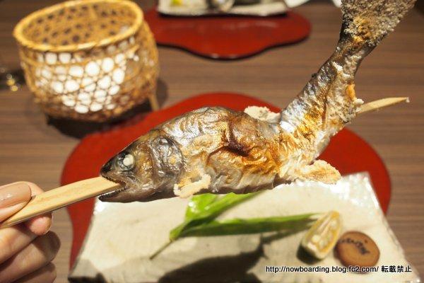 地の山女魚の炭火焼き
