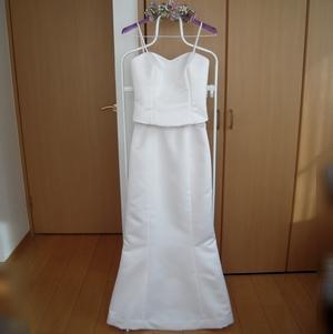 手作りのウェディングドレス