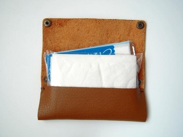 革ポケットティッシュケースの作り方