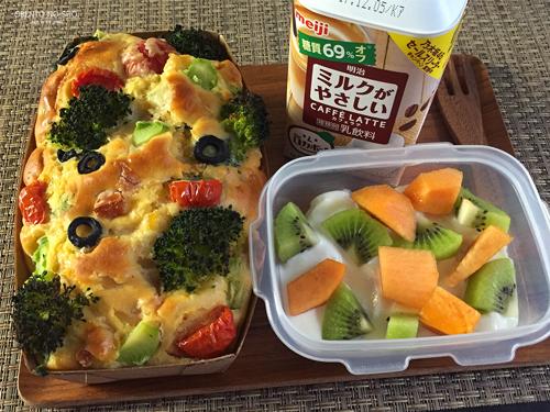野菜とベーコンのケークサレ弁当01