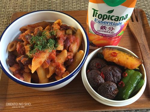 蛸と豆のトマトパスタ弁当