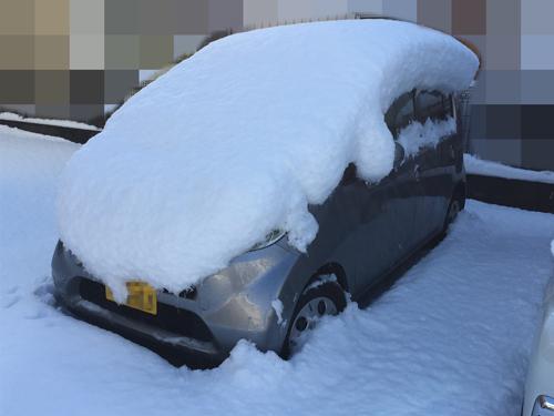雪まみれライフたん