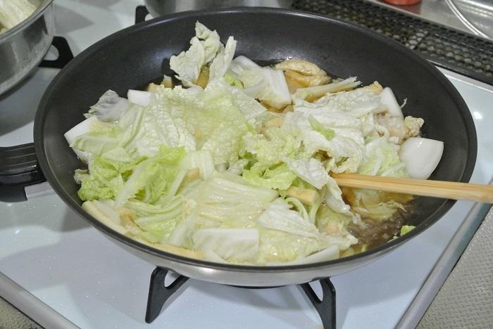 白菜と油揚げの炒め煮1