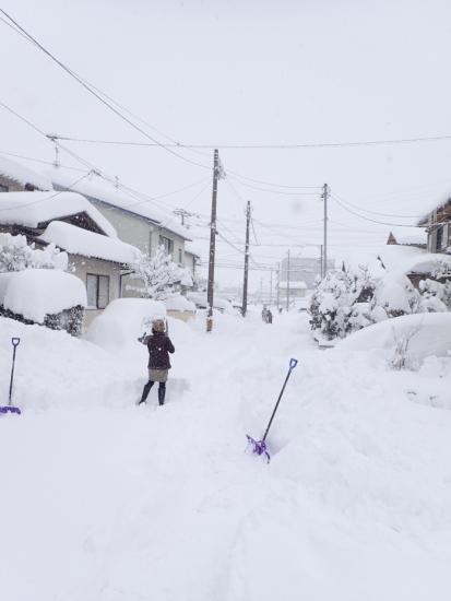 大雪除雪街