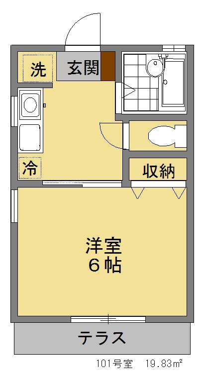 ハイツ欅101間取図