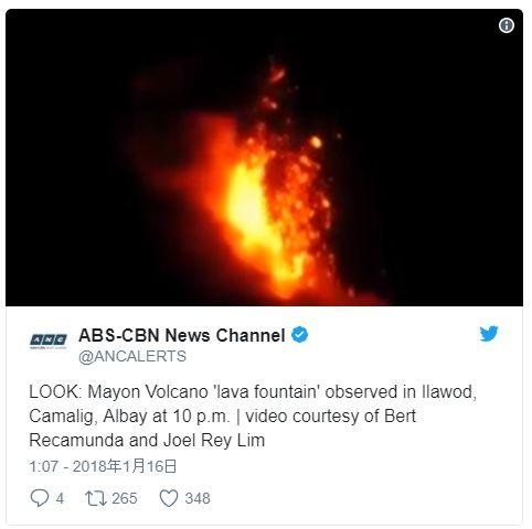 【マグマ】フィリピンのマヨン山、警戒レベル3に引き上げ…数日内に噴火の可能性