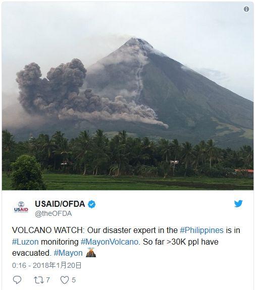 【フィリピン】ルソン島にある「マヨン山」が大噴火するおそれあり