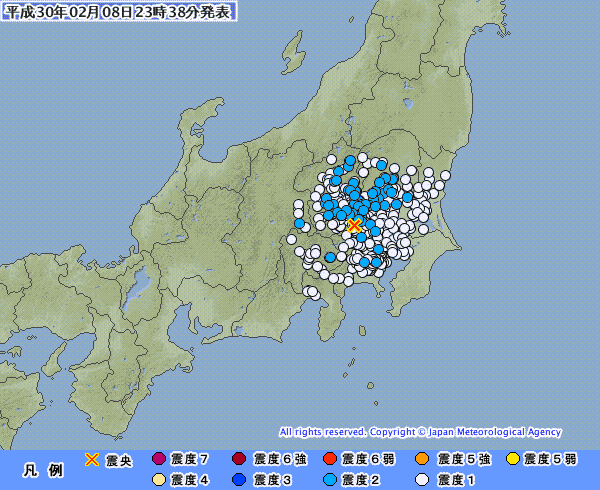 【内陸】埼玉で震度2の地震があったけど、なんか変な感じだったよな?地鳴りも凄かったんだが