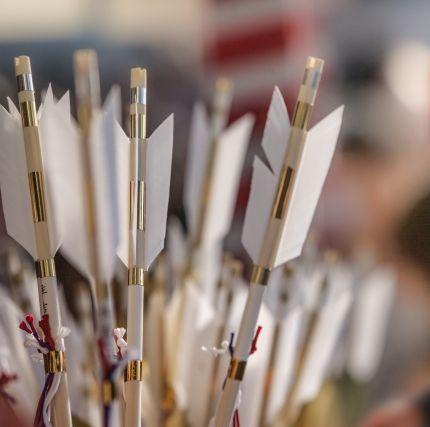 【長崎】800年以上続く、12本の矢を放ち1年を占う「百手祭り」の結果…宮司「6本も外れるのは初めて、不安を感じている。自然災害に気をつけてほしい」