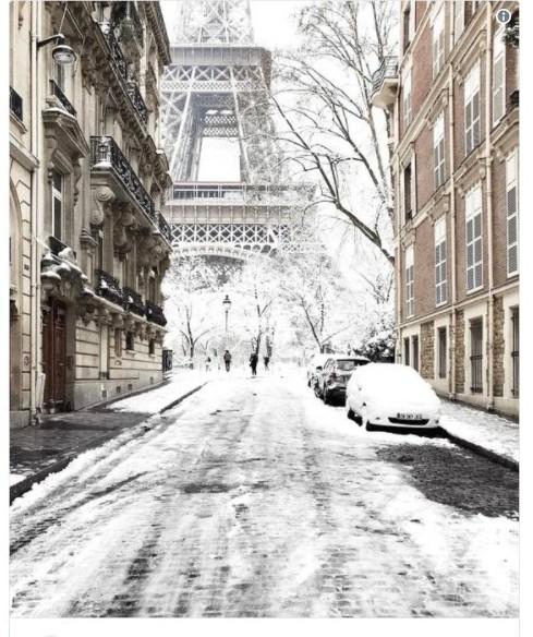 【ヨーロッパ】パリでまた「大雪」に…エッフェル塔も閉鎖