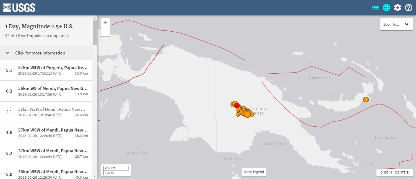 【余震】パプアニューギニア「M7.5」の地震からその後「M5.0クラス」の地震が「40回」を超える