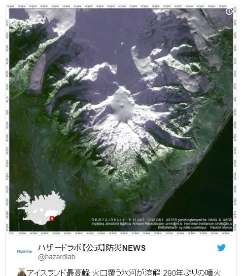 アイスランド最高峰の山の火口覆う氷河が溶解し始める…290年ぶりに噴火する可能性も