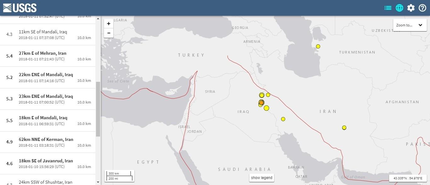 【群発地震】ミャンマーで最大「M6.0」 イランで最大「5.5」の地震発生…その後もM4~5クラスの余震続く