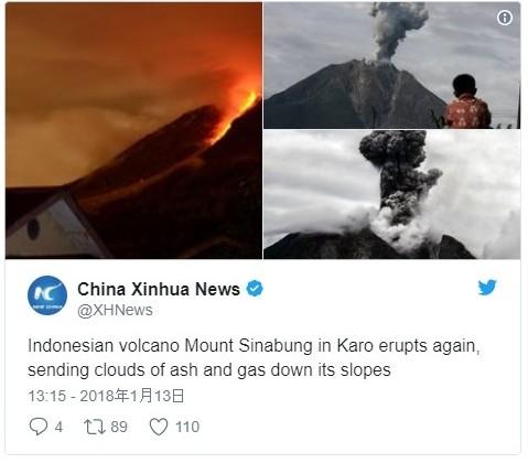 【インドネシア2スマトラ島のシナブン山、バリ島のアグン山の2大火山から溶岩流が溢れ出る…山頂には新しい溶岩ドームも出来る
