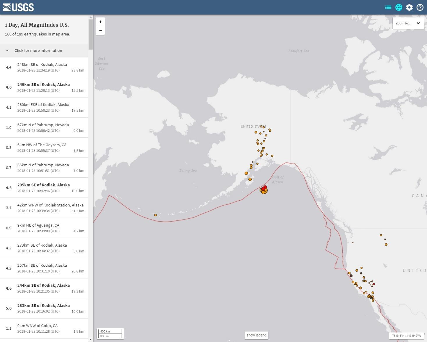 【海底】アラスカでM7.9の大地震が発生…現在も「M4」クラスの地震が続く