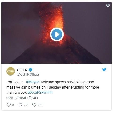 フィリピン・マヨン山が噴火…同国で最も活発な火山でマグマが噴き出る映像も