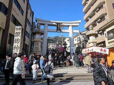2018年元日の長崎・諏訪神社