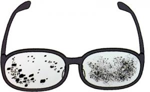 眼鏡のゴミ