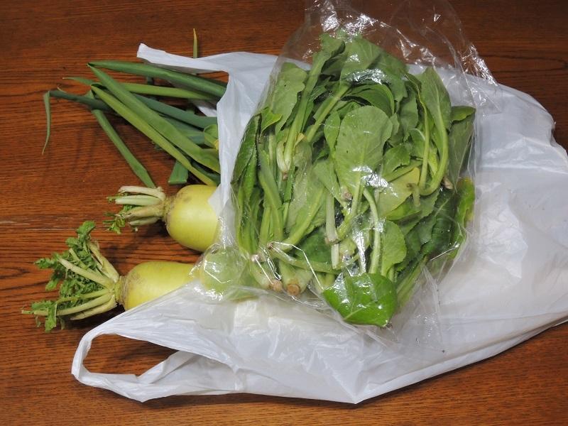 お友達から頂いたお野菜