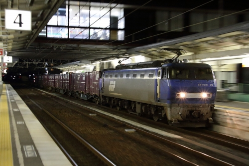 EF200-19代走・遅れ2077レ 新倉敷駅