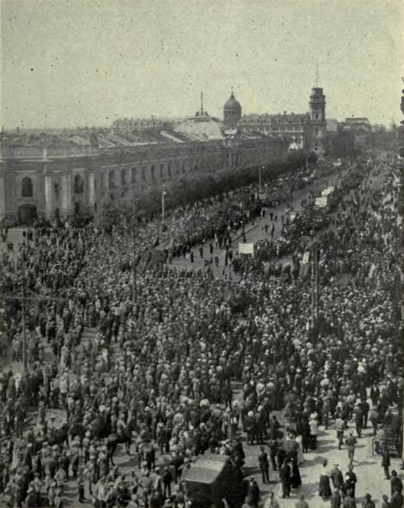 七月蜂起におけるネフスキー大通りでのデモ