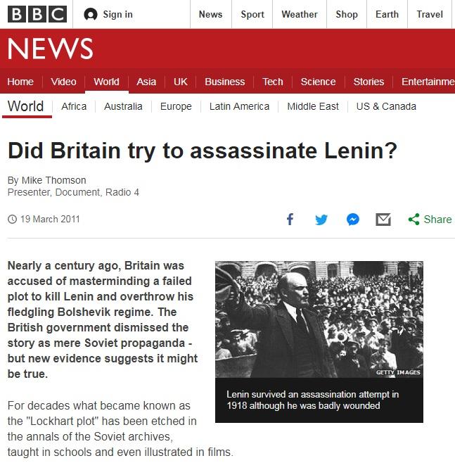 BBC レーニン暗殺