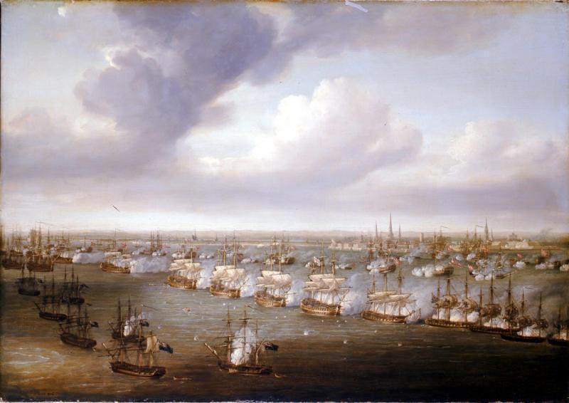 『コペンハーゲンの海戦』(ニコラス・ポコック画)