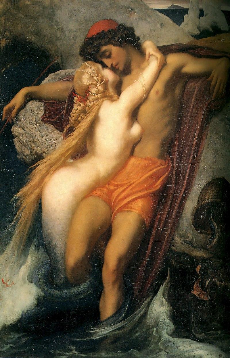 『漁夫とセイレーン』フレデリック・レイトン 1856-1858
