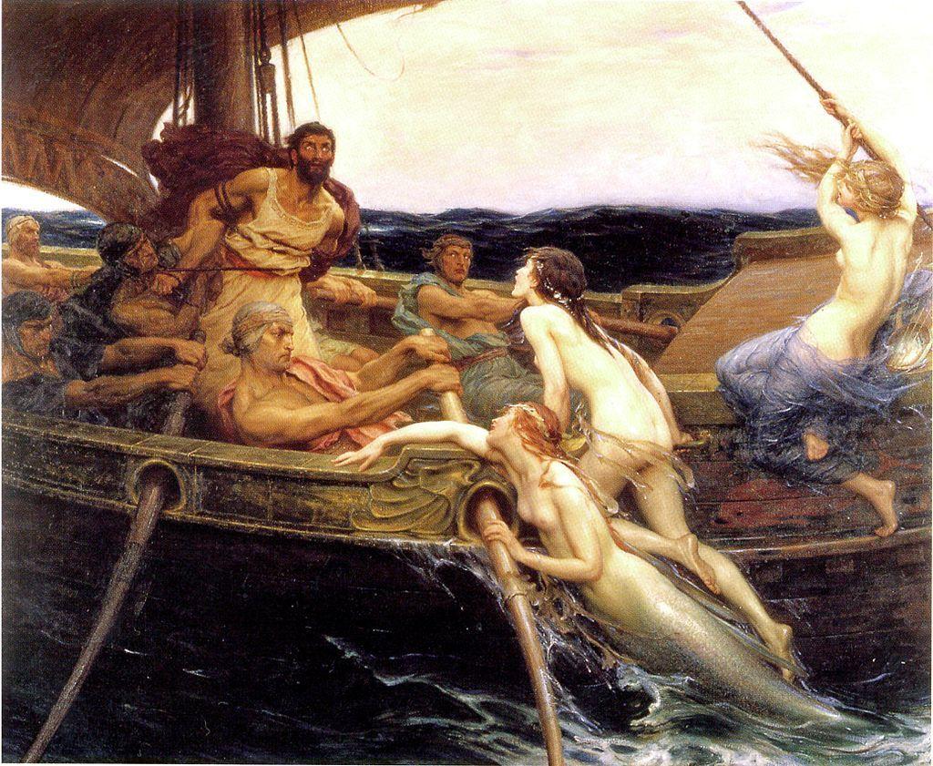 『オデュッセウスとセイレーンたち』 ハーバード・ジェイムズ・ドレイパー 1909年