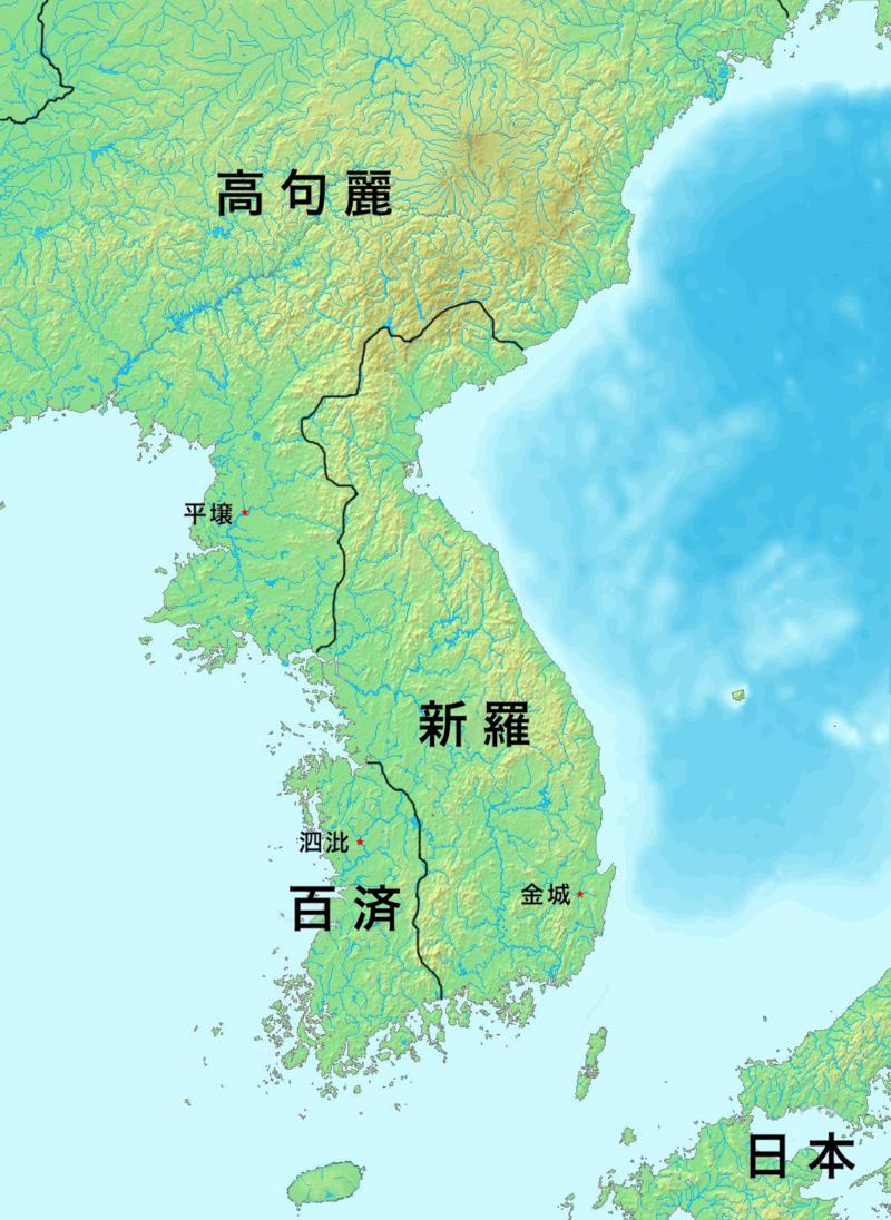 576年頃の朝鮮半島周辺の様子