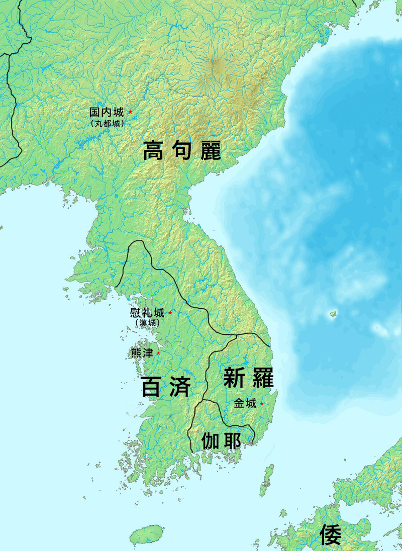 375年頃の朝鮮半島周辺の様子