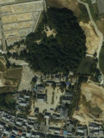 叡福寺北古墳の航空写真