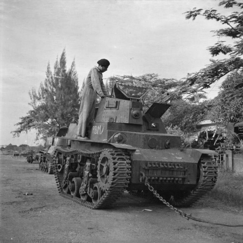 インドネシア人により使用された旧日本軍の軽戦車
