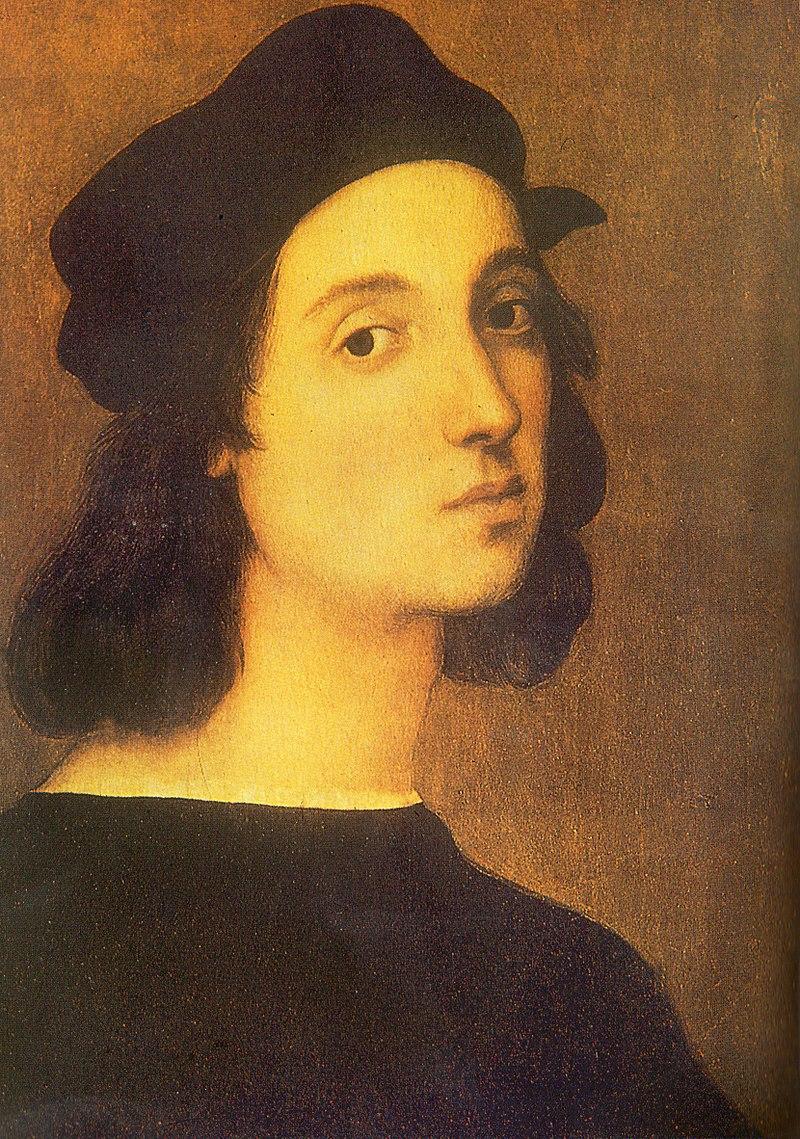ラファエロ・サンティ『自画像』(1506年)、ウフィツィ美術館