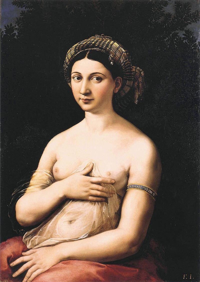 ラファエロ・サンティ 『ラ・フォルナリーナ』(1518年 - 1519年)