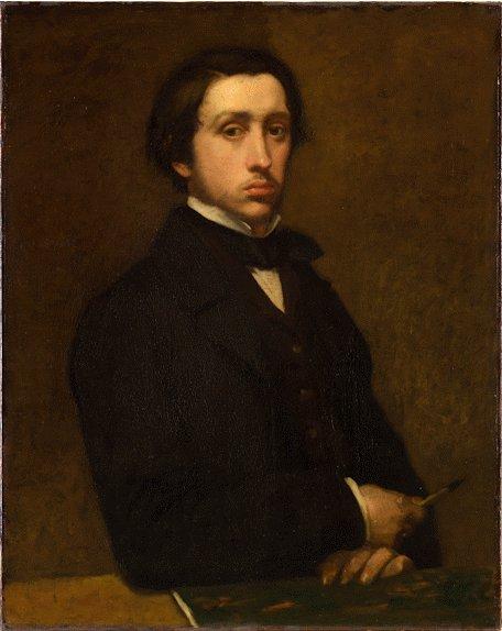 エドガー・ドガ 『自画像』(1855年)オルセー美術館蔵