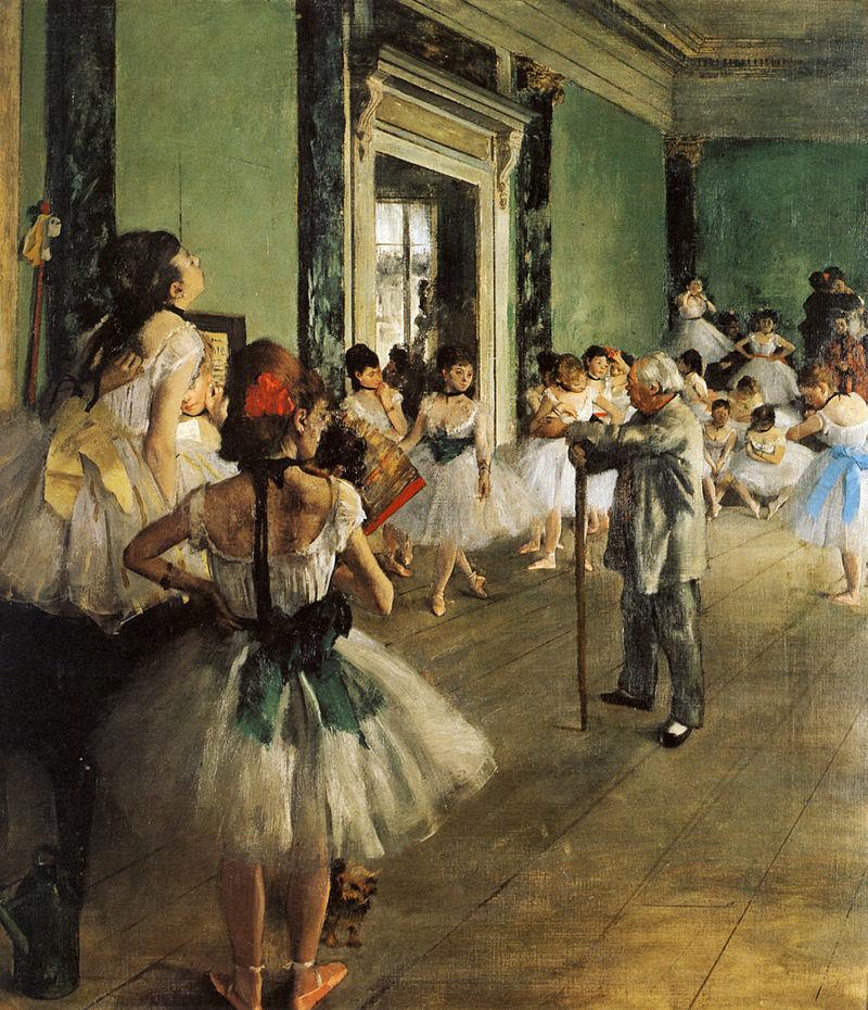 エドガー・ドガ『ダンス教室(バレエ教室)』 (1873-1875) オルセー美術館