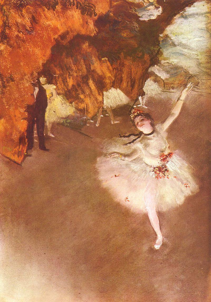 エドガー・ドガ『踊りの花形(エトワール、あるいは舞台の踊り子とも呼ばれる)』(1878年頃) オルセー美術館