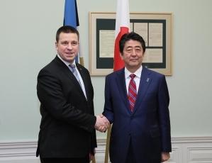 日・エストニア首脳会談